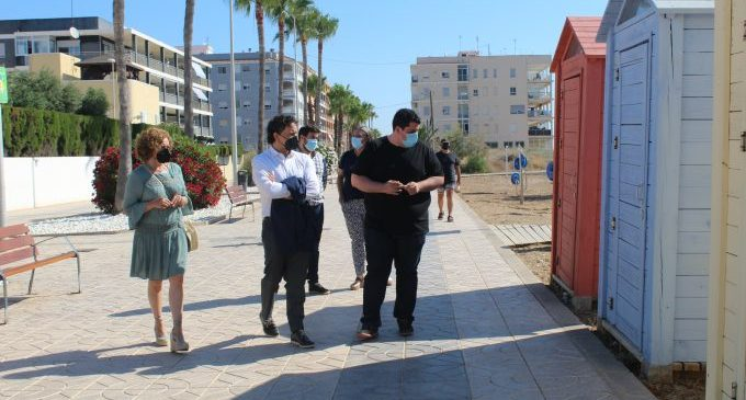 Colomer visita les millores realitzades a les platges de Nules i Mascarell