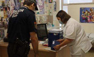 La Policía Local de Onda se hace cargo de la logística y distribución de las vacunas contra la Covid-19