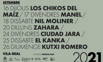 Los Chikos del Maíz, Zahara i Ciudad Jara, entre els artistes de la nova edició del Vila-real Alive