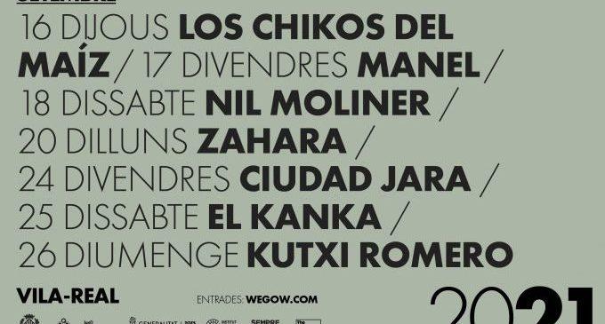 Los Chikos del Maíz, Zahara y Ciudad Jara entre los artistas de la nueva edición del Vila-real Alive