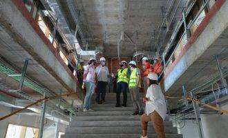 El director general de Infraestructuras Educativas visita las obras del colegio Jaume I y el IES José VIlaplana de Vinarós
