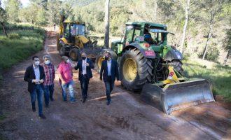 La Diputación invertirá 916.000 euros en 2021 en el mantenimiento de pistas y caminos rurales de los pueblos pequeños