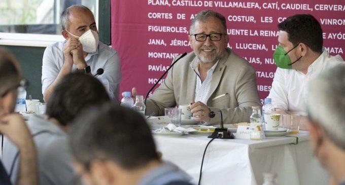 """Martí es marca el repte de convertir la Diputació en el """"motor de la recuperació econòmica i social de la província"""""""