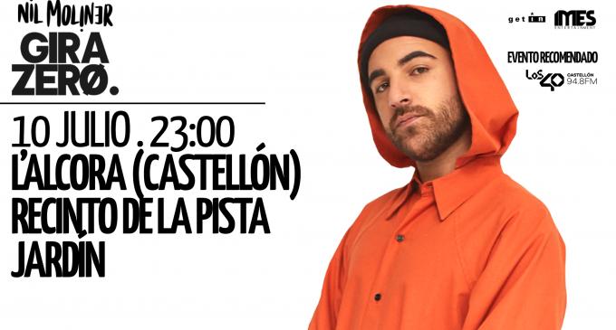 Nil Moliner actuarà a l'Alcora el pròxim 10 de juliol en Pista Jardí