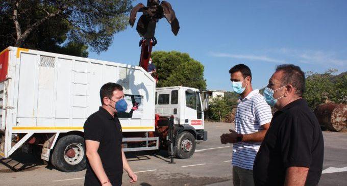 Castelló incorpora un camió ploma per a incrementar les freqüències de recollida de poda