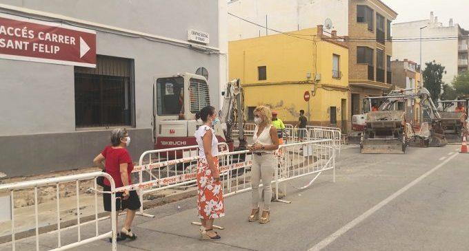 Almassora avança les obres de l'última fase del bulevard Sant Jaume