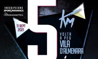 La XXXVII Volta a Peu a la Vila d'Almenara se celebrará el sábado 11 de septiembre