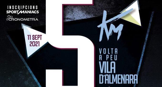 La XXXVII Volta a Peu a la Vila d'Almenara se celebarà dissabte 11 de setembre