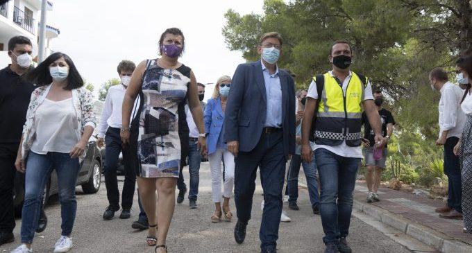 La Diputació de Castelló trasllada a l'Ajuntament de Peníscola i a la Generalitat la seua disposició per a ajudar en el reallotjament de les famílies afectades pel col·lapse d'un edifici d'apartaments