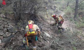 Estabilitzat l'incendi d'Assuévar després d'una nit tranquil·la i sense reproduccions del foc