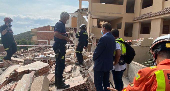 Ximo Puig ofereix ajuda a Peníscola per als afectats per l'ensulsiada d'un edifici i trasllada les seues condolences a la família del jove mort