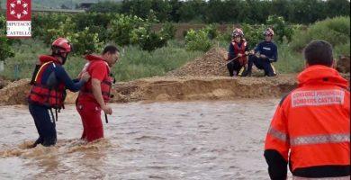 Más de una veintena de rescates y servicios de limpieza por las fuertes lluvias en Vinaròs