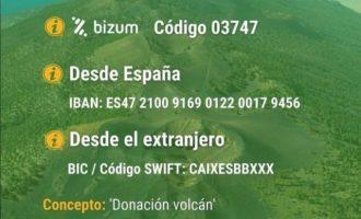 El Ayuntamiento de Almenara dona 6.000 euros a las personas afectadas por el volcán en La Palma