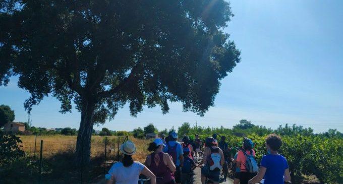 Castelló organiza una ruta ciclista en la Marjaleria para realzar su riqueza ambiental y su importancia ecosistémica