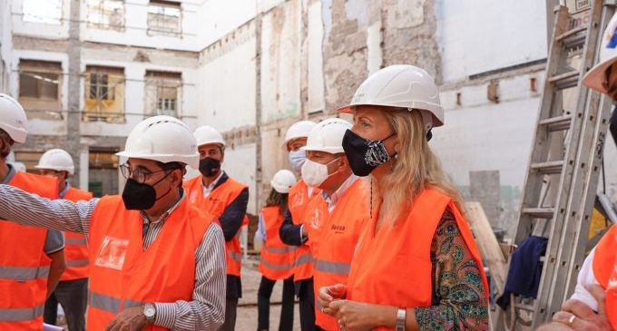 Castelló avanza en la construcción del Centro de Envejecimiento Activo tras finalizar el derribo