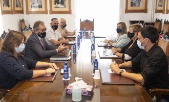 La Diputació elaborarà un estudi tècnic per a planificar l'ajuda que permeta atendre els danys per les pluges a Benicàssim, Vinaròs i Càlig
