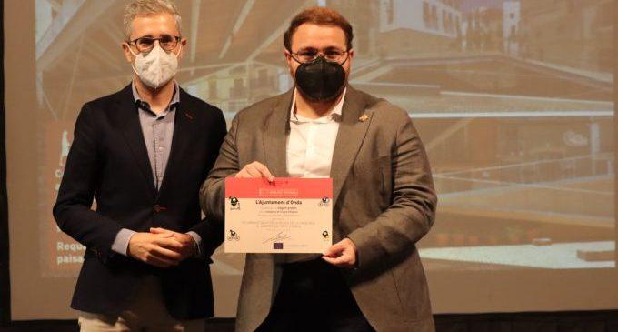 La plaza de la Sinagoga de Onda suma un nuevo premio a la accesibilidad