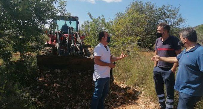Peñíscola destinará este cuatrimestre más de 80.000€ a la mejora de caminos vecinales y rurales
