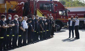 Martí posa en valor el treball dels bombers durant aquest estiu amb el rescat de 34 persones en situació de greu risc