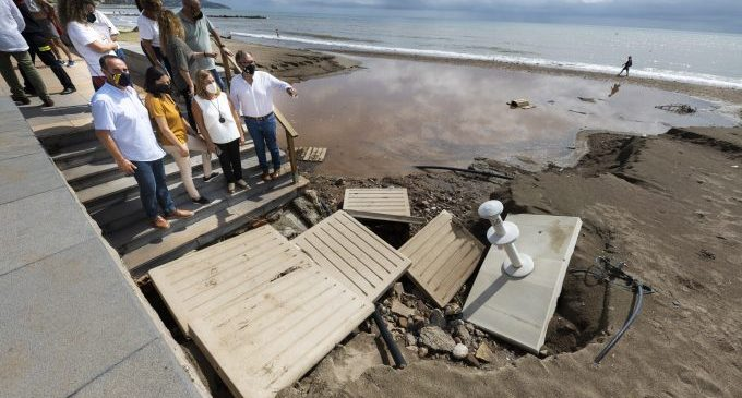 La Diputació treballa en una declaració institucional per a accelerar l'arribada d'ajudes a Benicàssim i Vinaròs per les pluges