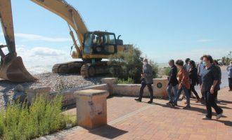La construcción de las escolleras de Almenara avanza a buen ritmo