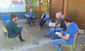 Navarro aborda con las asociaciones de la Marjaleria el protocolo de actuaciones por lluvias