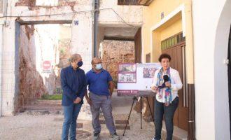 Onda Bonica reconstrueix la façana de la casa del centre històric que es va esfondrar en 2019