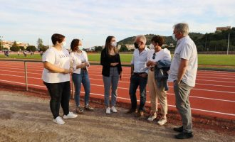 La Vall d'Uixó reobri la pista d'atletisme després de la finalització de les obres i el canvi del tartán