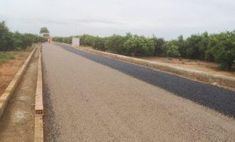 El Pla de millora de camins rurals de Vila-real compleix objectius amb l'asfaltat dels viaris Canal de la Cota 100 i Vora Riu-Madrigal